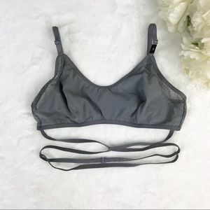 Victoria's Secret Gray Wrap Around Bralette